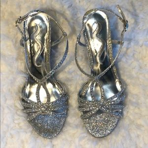 Sparkly Silver Heels Perfect for Prom